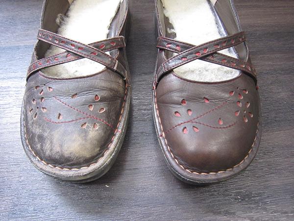 ひどいくたびれ靴をたった20秒で魔法のように復活