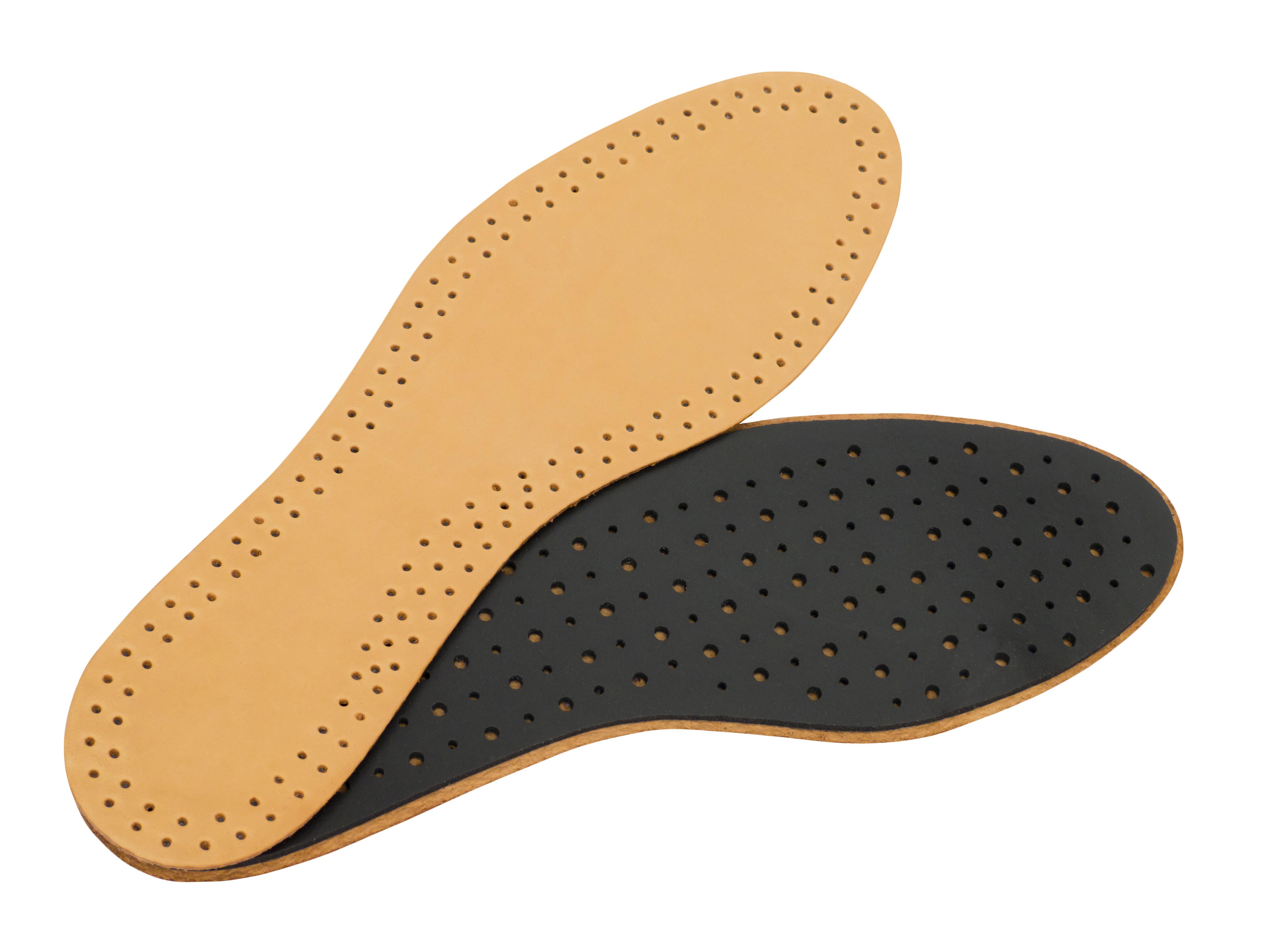 靴の中をさらりと気持ちよく保つのに最適!レザーインソールでちょっと贅沢