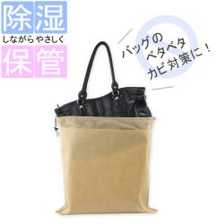 除湿ができるバッグ収納袋