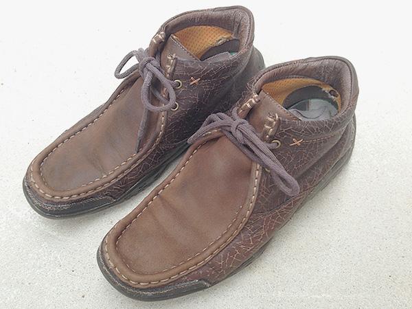 「ヌバック+革のコンビ素材の靴」お手入れレポート byお手入れビギナー西村